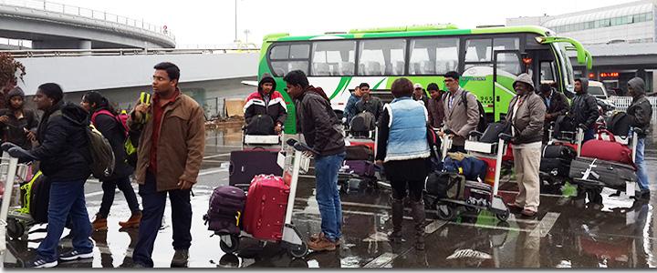 Indian-students-Shihezi-University-airport